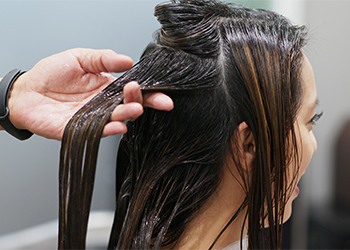 Hot Oil treatment for dry, damaged hair